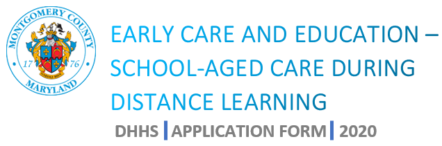 Early Care and Education - School-Aged Child Care During Distance Learning