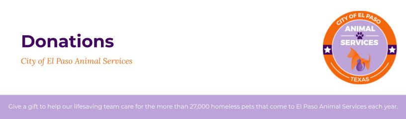 City of El Paso Animal Services Donation Form