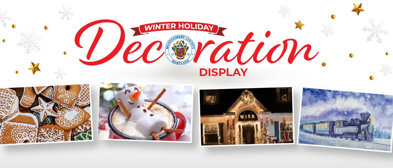 winter holiday decoration display